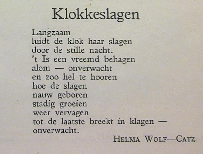 1926. debuut van de dichteres Helma badvulling in het novembernummer van ons eigen tijdschrift