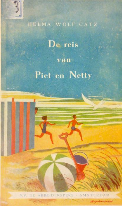 De reis van Piet en Netty. De Arbeiderspers, Amsterdam, 1947.  Met illustraties door A.J. Kuipers (Abe Johannes Kuipers, 1918-).