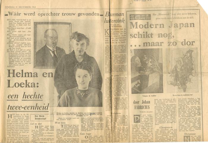 1963. Interview met Helma en Loeka, Telegraaf