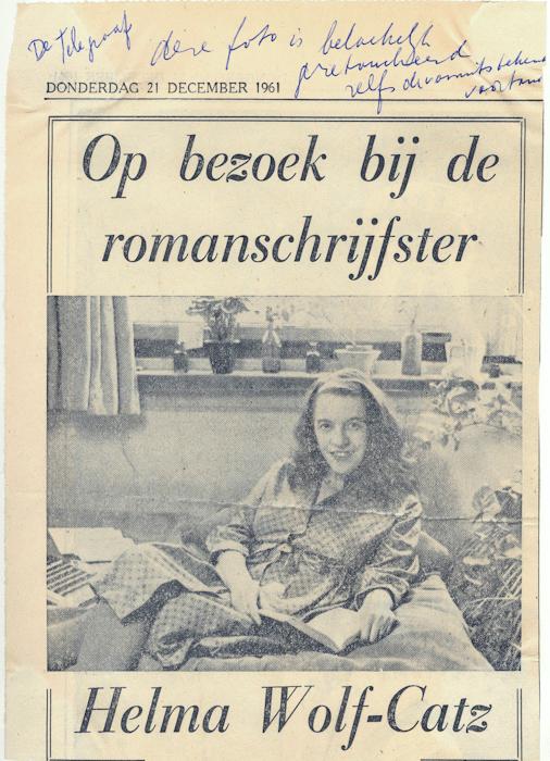 1961. Helma, Telegraaf interview, met commentaar van Loeka