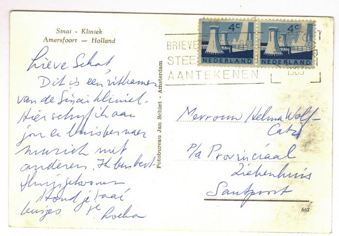 1963. Kaart van Loeka aan Helma