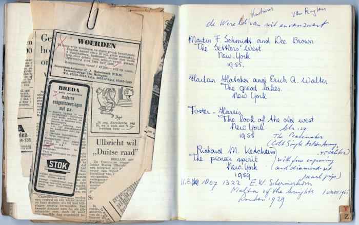 1965. aantekeningen voor Van Wit en van Zwart