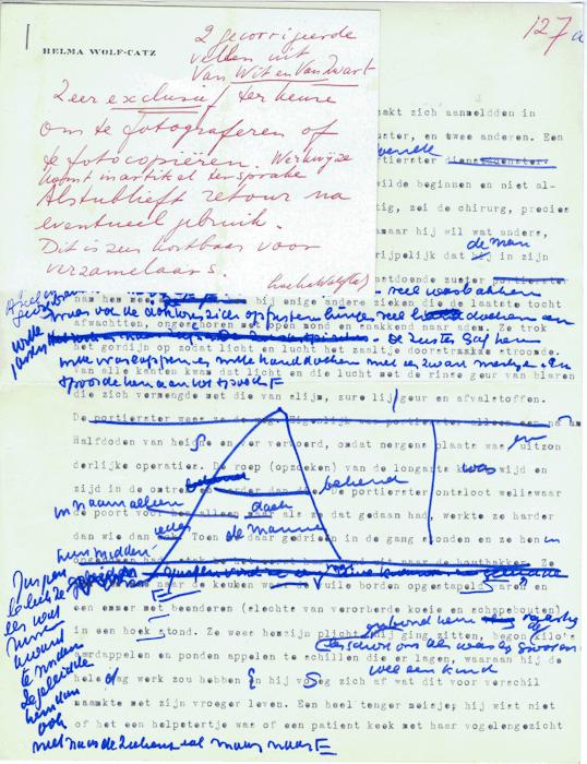 1967. Typoscript 'Van Wit en van Zwart'