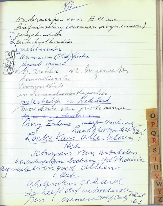 1972. aantekeningen Helma over Loeka