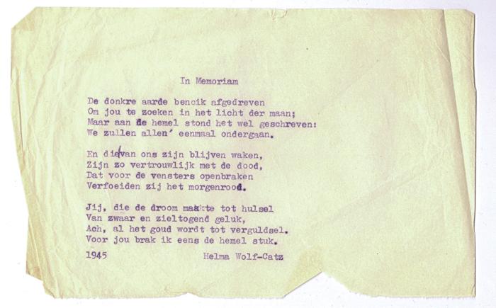1945. In Memoriam
