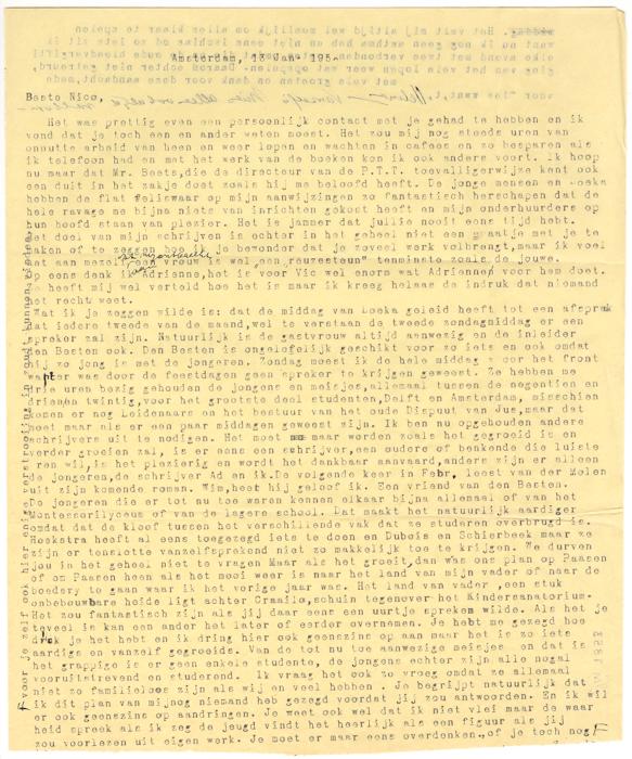 1952. Brief van Helma aan N Donkersloot